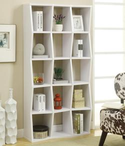 Bookcases Contemporary Bookshelf with Asymmetrical Shelves