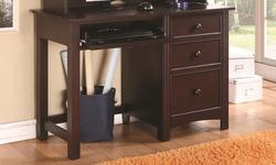 Oliver 3 Drawer Pedestal Desk with Keyboard Drawer