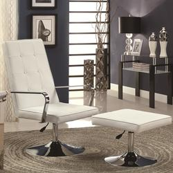 Accent Seating Contemporary Chair and Ottoman Swivel Set