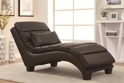 Accent Seating Bonded Leather Match Upholstered Chaise