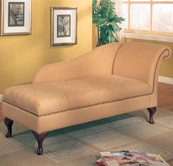 Accent Seating Microfiber Chaise Lounge with Flip Open Seat