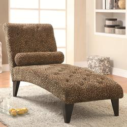 Accent Seating Leopard Print Living Room Chaise