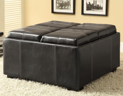 Ottomans Storage Ottoman with Reversible Top with Hard Surface Tables and  Serving Trays - Coaster Ottomans Storage Ottoman With Reversible Top With Hard