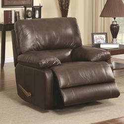 Geri Transitional Rocker Recliner with Pillow Arms