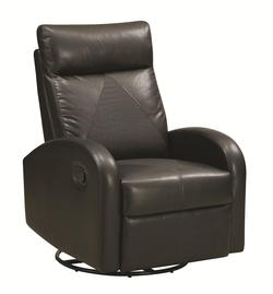 Recliners Swivel Rocker Recliner with Faux Crocodile Detail