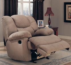 Recliners Padded Microfiber Rocker Recliner