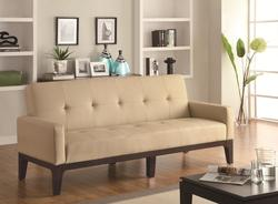 Sofa Beds and Futons Tufted Sofa Bed with Track Arms