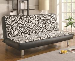 Sofa Beds and Futons Contemporary Styled Sofa Sleeper with Fold Down Futon Seat Back