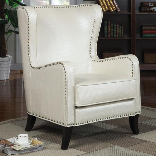 Merveilleux Accent Seating Wing Accent Chair With Nailhead Trim