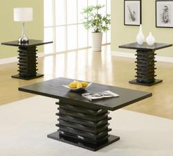 3 Piece Occasional Table Sets Contemporary 3 Piece Coffee Table and End Table Set