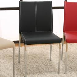 Contemporary Designs - Corona Chrome Stack Chair w/ Upholstery