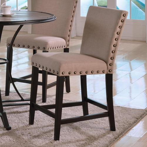 crown mark wyatt casual upholstered counter height chair