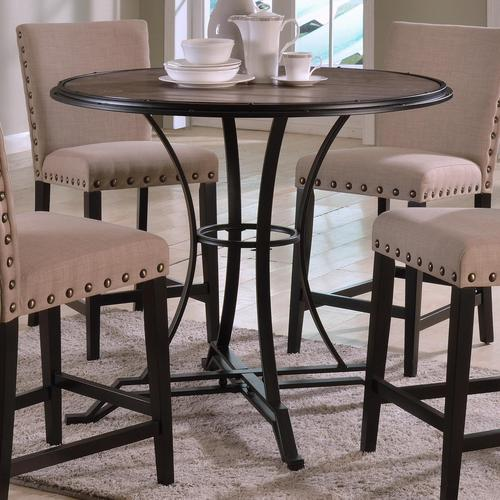 Wyatt Contemporary Round Counter Height Table With Metal Base