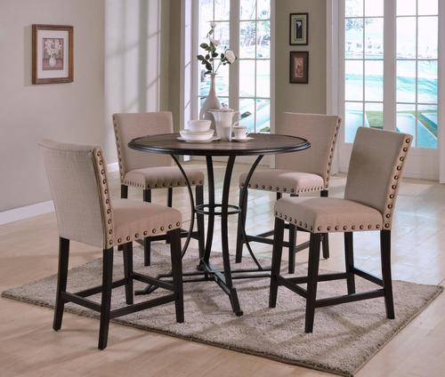 crown mark wyatt contemporary round counter height set with 4