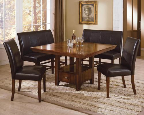 Crown Mark Salem 5-Piece Rectangular Dining Table with Upholstered ...