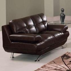 9108 Contemporary Bonded Leather Love Seat