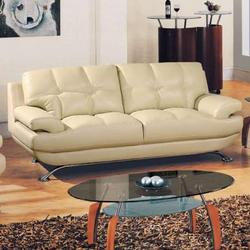 9108 Contemporary Bonded Leather Sofa