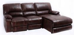 8135 Casual Three Piece Sectional Sofa with One Recliner and Storage Drawer