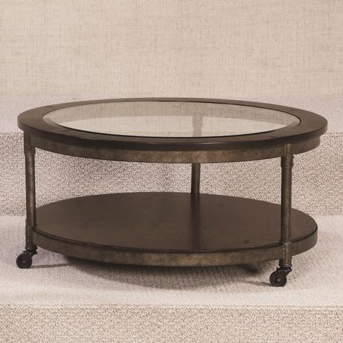 Hammary structure round cocktail table for Table html structure