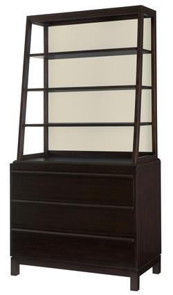 Hidden Treasures Bookcase with Drawers, Shelves and Interchangeable Back Panels