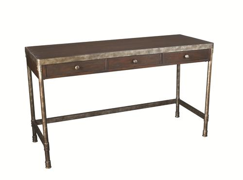 hammary structure metal table desk w 3 drawers. Black Bedroom Furniture Sets. Home Design Ideas