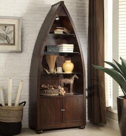 3522 Boat-Shaped Bookcase with 3 Shelves