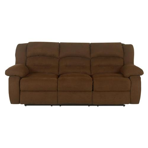 Klaussner austin contemporary upholstered reclining sofa for Contemporary reclining sofas