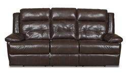 Zeus Transitional Reclining Sofa with Tufted Back