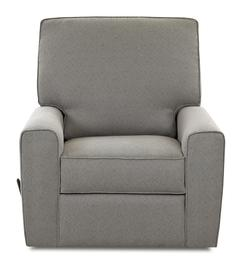 Hannah Transitional Swivel Rocking Reclining Chair with Straight Track Arms