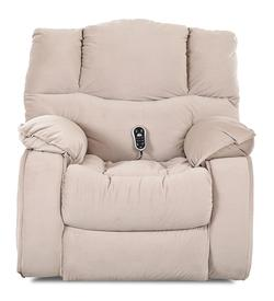 Hillside Casual Swivel Rocking Reclining Chair with Plush Pillow Arms and Headrest
