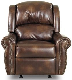 McAlister Traditional Rocker Recliner with Winged Pub Back and Rolled Arms
