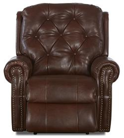 Ellenburg Traditional Swivel Rocking Recliner with Attached Back Pillows and Outside Handle Activation