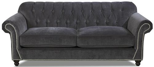 Flynn Traditional Sofa With On Tufted Back And Rolled Arms