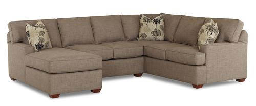 klaussner pantego 3 piece sectional sofa with laf chaise
