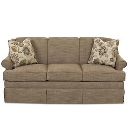 Edith Transitional Full Air Coil Sofa Sleeper with Skirted Base