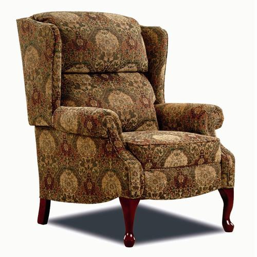 Lane Hi Leg Recliners Traditional Savannah Hileg Recliner With Queen Anne Legs
