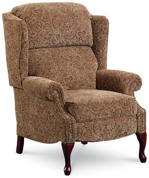 Lane hi leg recliners savannah high leg wing back recliner for Wing back recliner chair