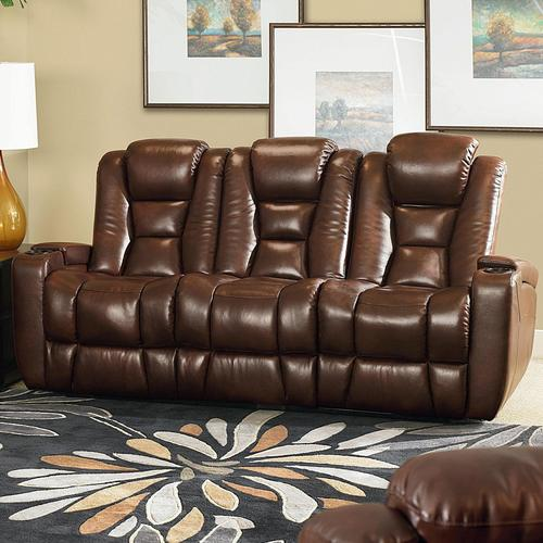 Transformer Casual Double Power Reclining Sofa With Drop Down Table And  Cupholders