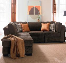 roxy 5 piece modular sectional with ottoman
