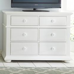 Summer House Cottage Media Chest with 6 Drawers