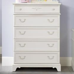 Arielle Youth Bedroom 5 Drawer Chest with Felt-Lined Top Drawer