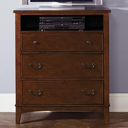 Chelsea Square Youth Three-Drawer Chest with Open Media Shelf