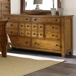 Grandpa's Cabin 7 Drawer Dresser with Tapered Block Feet