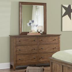 Hearthstone Six Drawer Dresser and Mirror Set