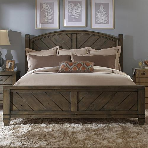 liberty furniture modern country casual rustic king poster bed. Black Bedroom Furniture Sets. Home Design Ideas