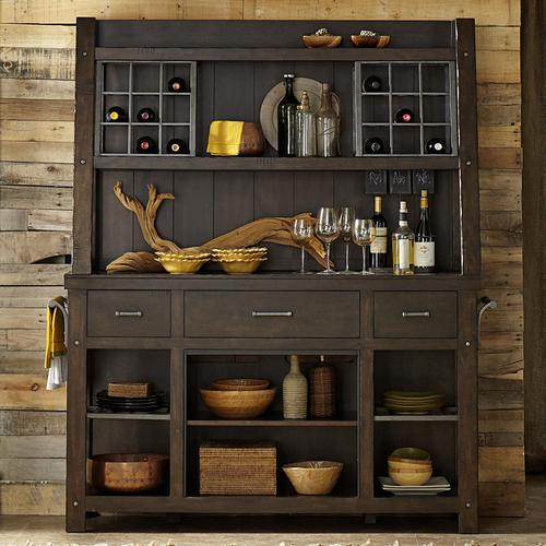 Moreno Valley Rustic Dining Room Buffet And Hutch