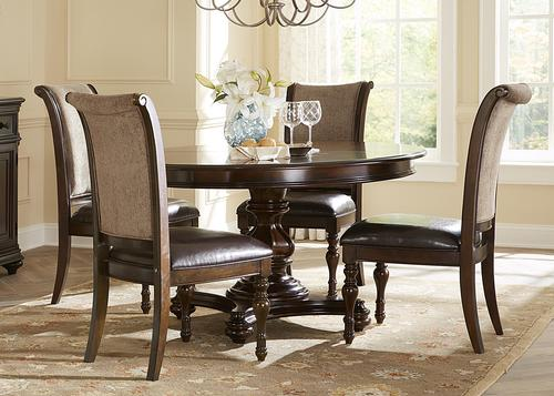 kingston plantation five piece oval dining table and chair set