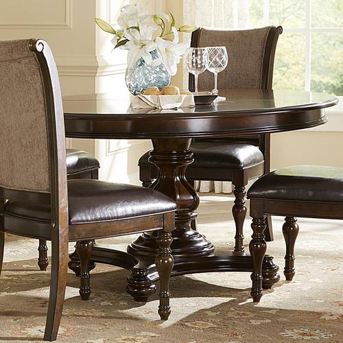 Kingston Plantation Oval Pedestal Dining Table With 18 Inch Leaf