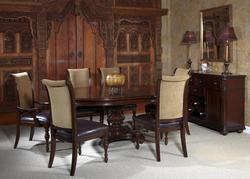 Kingston Plantation Seven Piece Oval Dining Table And Chair Set