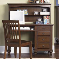 Abbott Ridge Youth Bedroom Student Desk with Hutch